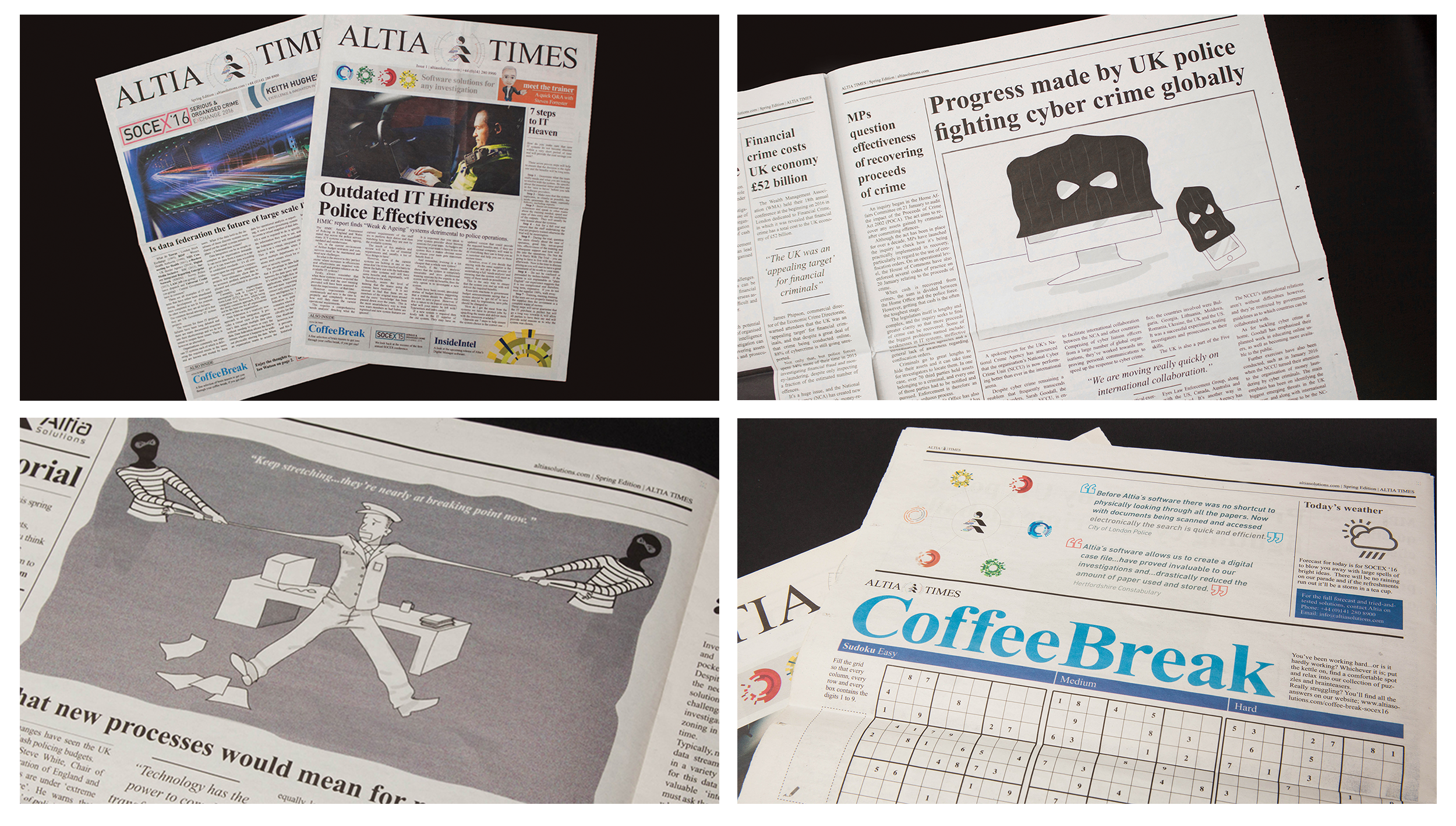 A case-study summary of our software marketing and branding work with Altia-ABM. The importance of hero graphics, retention, values and so much more. Newspaper.