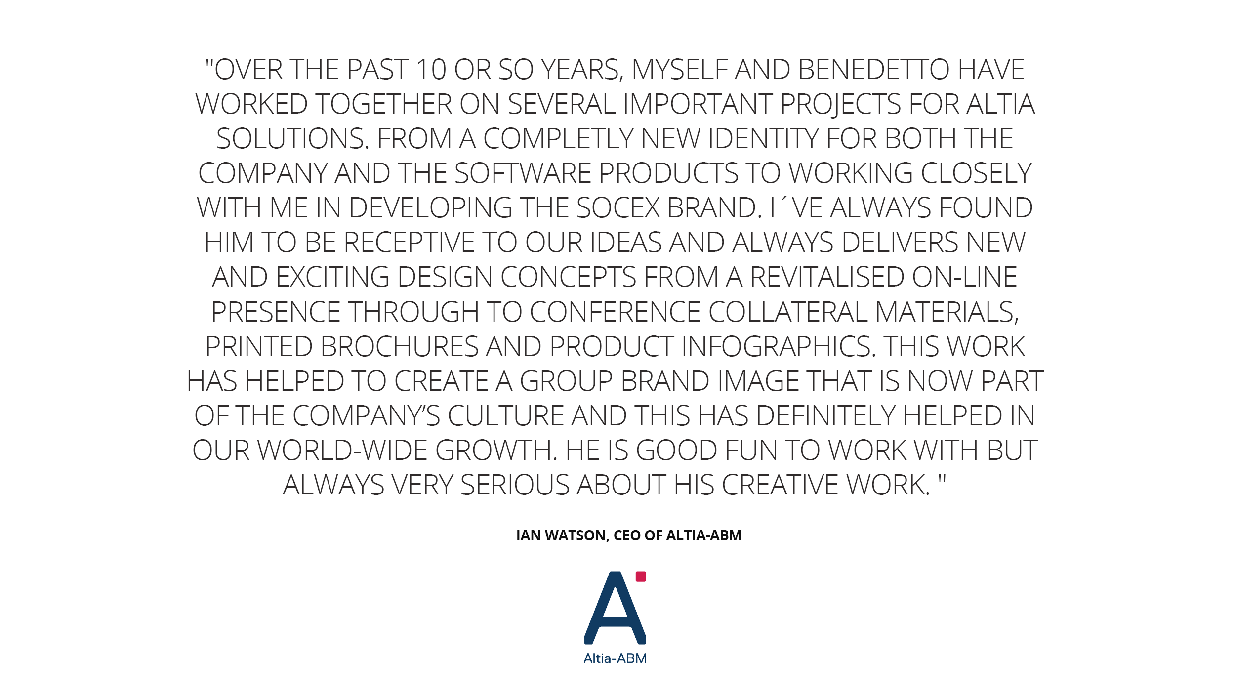 A case-study summary of our software marketing and branding work with Altia-ABM. The importance of hero graphics, retention, values and so much more. Testimonial.